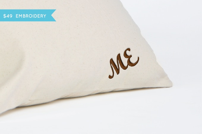 PERSONALIZE YOUR PILLOW: Make it extra special and get the pillow case embroidered.