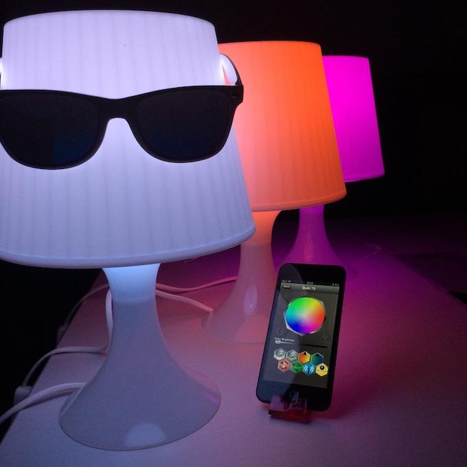Compact LuMini fits into a small mood lamp