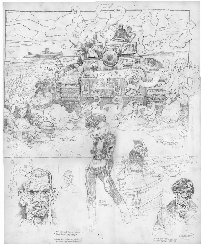 Dr. Panzer character page 14x17 Overall on Bristol.
