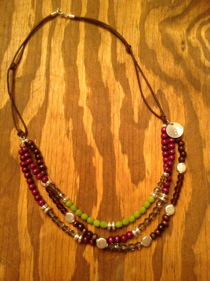 Simply Om Original 'This Is My Brave' 3-strand necklace