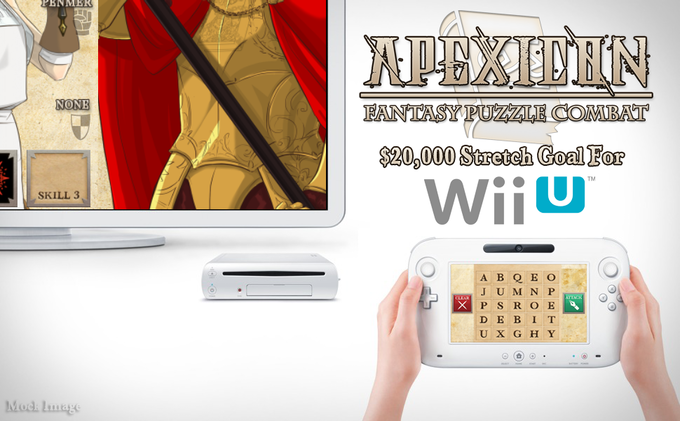 If we reach this goal, you can choose Wii U as your free copy for backing!