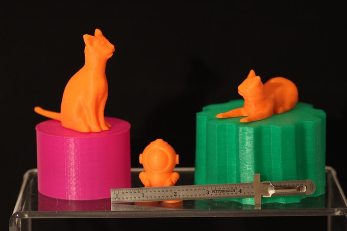 Our kids liked these fun little prints as they looked through thingiverse.  So, we printed them.