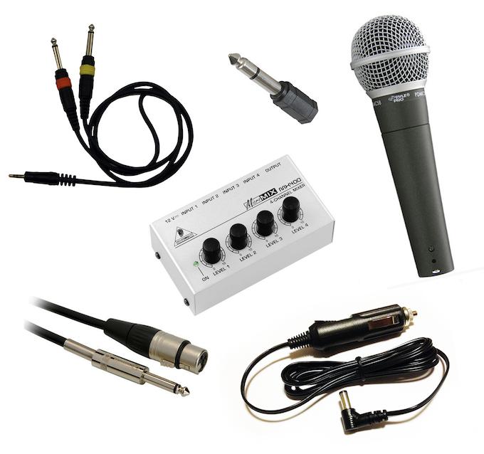 Karaoke kit contents