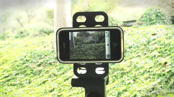 Real QuickStand prototype - Landscape on tripod