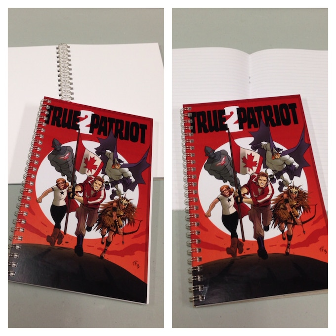 """True Patriot 5.5 x 8.5"""" wire-bound Sketchbook (blank) and Notebook (lined)"""