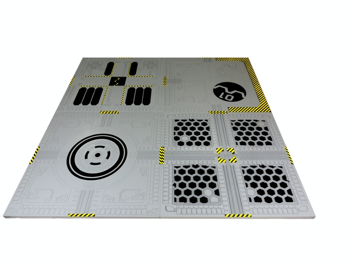 Games & Gears Anime Wars Battle Board. All 4 initial designs interlocked together.