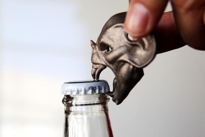 Opening a bottle...