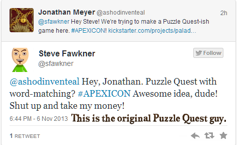 Yup, the original creator of Puzzle Quest has given us his blessing.