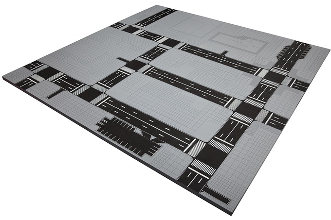 Dropzone Commander Cityscape Battle Board. 10mm Scale. All four initial designs interlocked together.