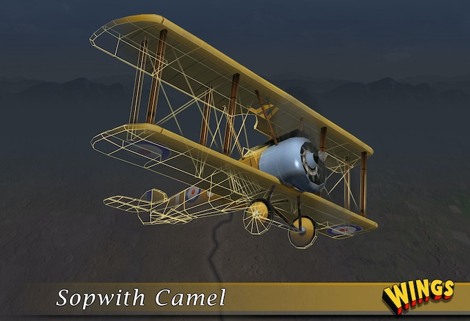 In-game Sopwith model