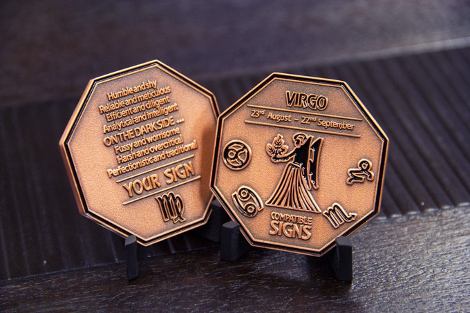 Zodiac Coins: Cosmic Wisdom, Small Enough to Fit in a Pocket