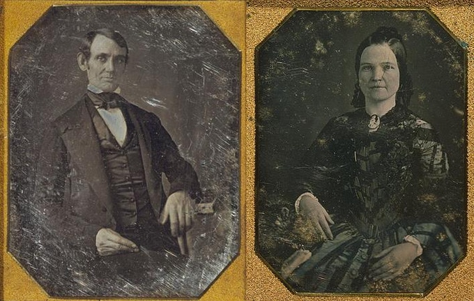 Abraham and Mary Lincoln as they appeared a few years after they were married.