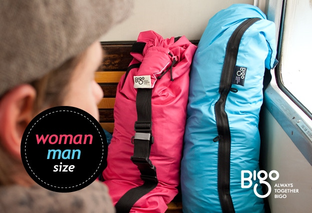 The Bigo Bag Five comes in men's and women's sizes.