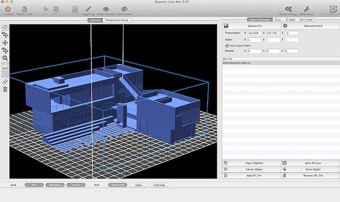 Wren Residence, by Chris Pardo Design, seen in Repetier Printer host software