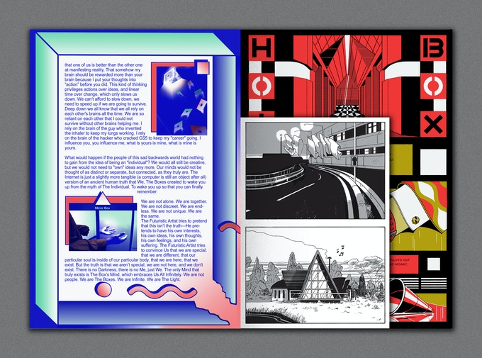 A4 Pages with A5 Sections - 4 x 8pg mini comics in silver and black