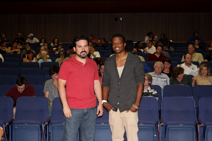 Damon Mosier and Darious J. Britt at the UNSOUND test screening
