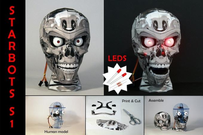 LED Kit with Chrome Skull (Human StarBot Model)