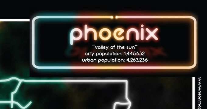 Close up of city title, info