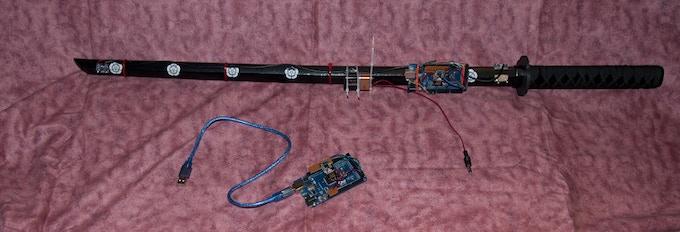 Digital Katana Prototype 2 with receiver