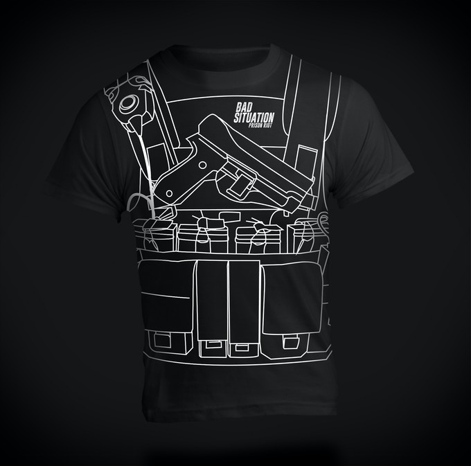 Shirt printed with a real SWAT vest pattern. Your friends will be jealous. Receive when you pledge $500 or more.