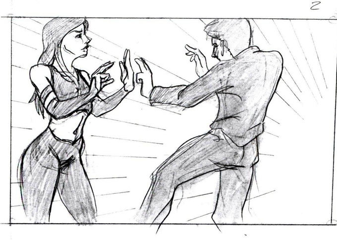 THE HERO FIGHTS THE BOSS'S MISTRESS.