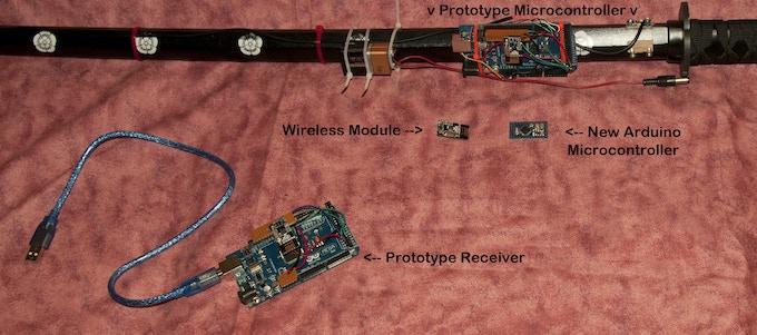 Components of Prototype Wireless Digital Katana