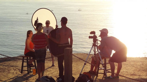 Crew on location in San Diego, USA