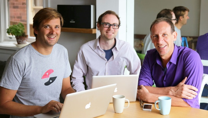 The team: Thomas, James and Ian