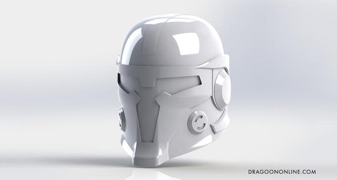 3D Render of Dragoon Helmet (Courtesy of Blue Realm Studios)