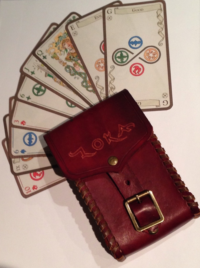 Custom traditionally crafted leather Tarot case with buckle (by premium manufacturer Cosmic Workshop!):