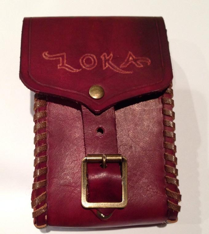 Hand embossed Loka logo