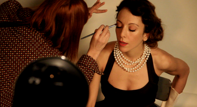 Marta Mondelli becomes Nora for the poster's photoshoot