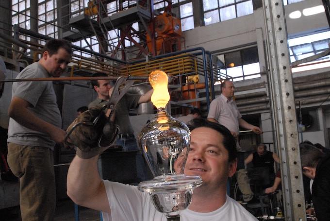 Rogaska Glass Blowing