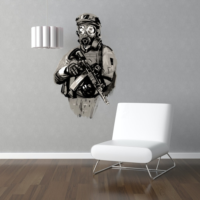 Themed large wall sticker. Receive when you pledge $500 or more.