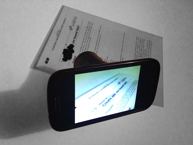 With Snooperscope you can see what is written under inks