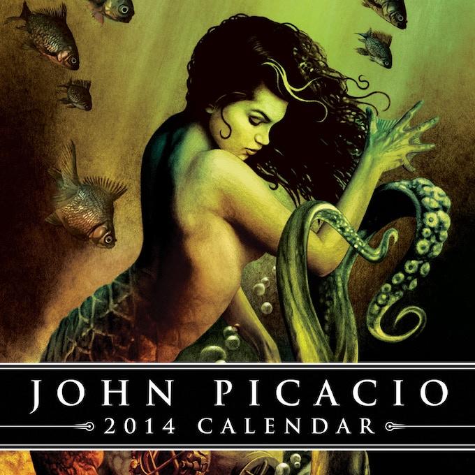 Cover art & design for the 2014 John Picacio Calendar