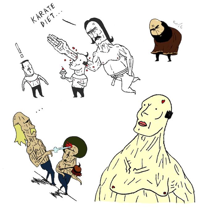 Concept art for the ARTBOOK