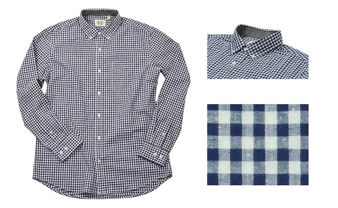 Polar Coordinates: Premium Japanese gingham shirt