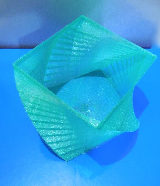 Square Vase Printed in R-360