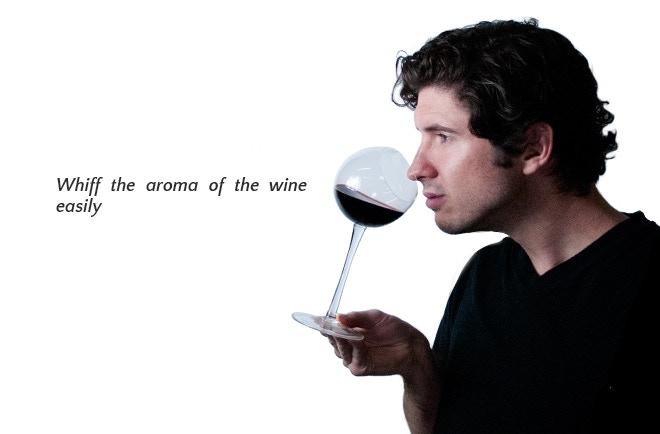 Tipsy Wine Tasting Glass: