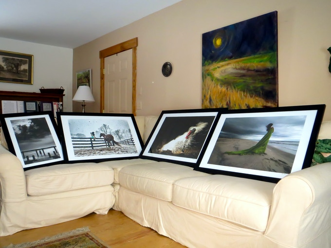 Multiple 36x24'' Photo Prints framed by a Kickstarter backer