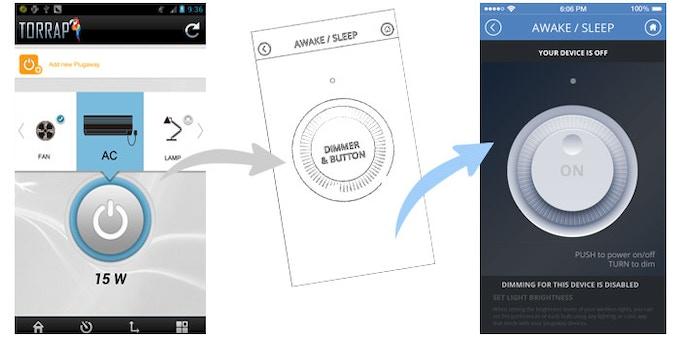 [DIM/SWITCH] App Prototype ver 1.0, New concept, Prototype ver 2.0 (right)