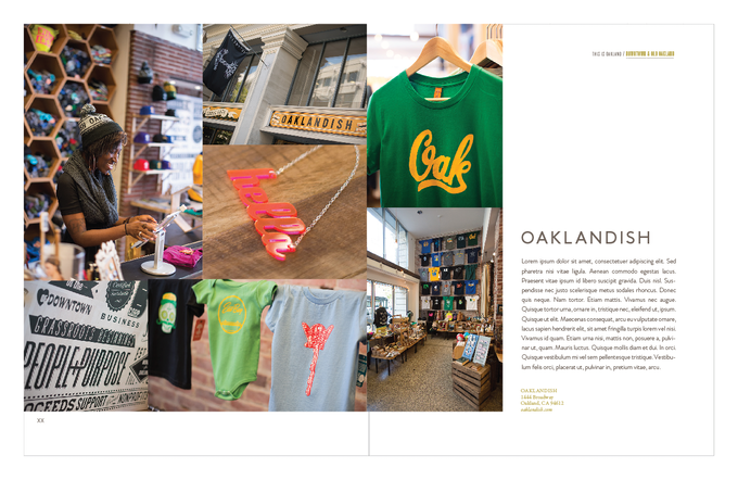 Oaklandish layout with dummy text