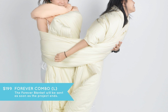 FOREVER COMBO (L): Wrap yourself in continuity. One Infinity Pillow of your choice and one Forever Blanket in cream color (size 245cm x 110cm). It's big enough to bundle up a few!