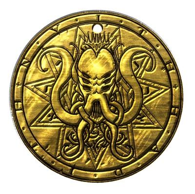 "Cthulhu's Prison enameled pendant. 1.5"" (38mm)"