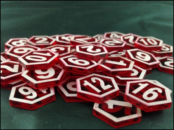 Double-sided Damage Tokens