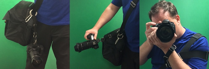 Works great with camera bags and glide straps!