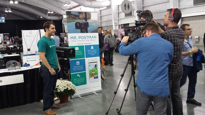 Manu being interviewed at Expand NY