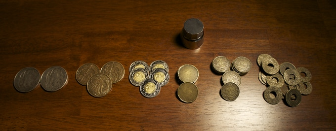 Full Set of 60 coins - Air coins are represented by blanks & an un-sculpted die.