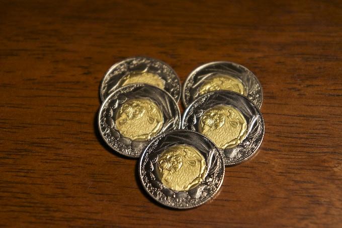 5 Manticore (Earth) Coins, 20 Denom